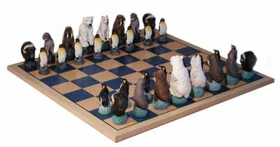 ice animal chess sets